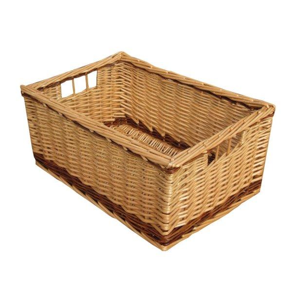 Rectangular Wicker Basket Storage