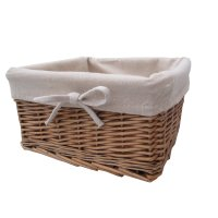 Buy Wicker Storage Basket Square Lined online from The ...