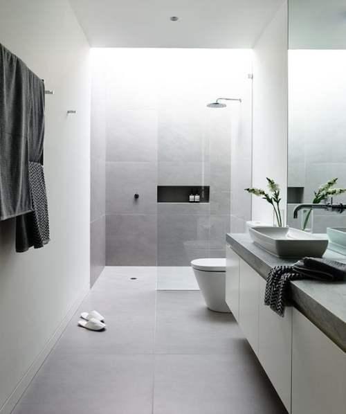 decoración baño minimal