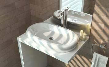 Formas curvas como protagonistas de un baño original y… ¡redondo!