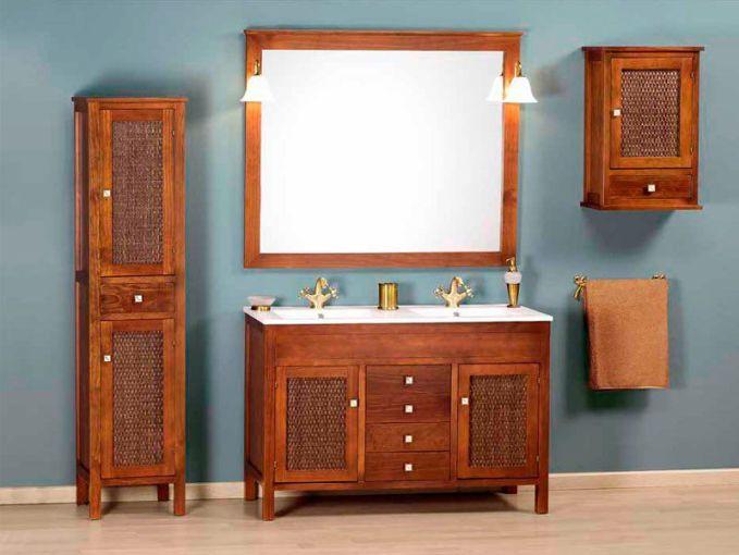mueble de madera para baños