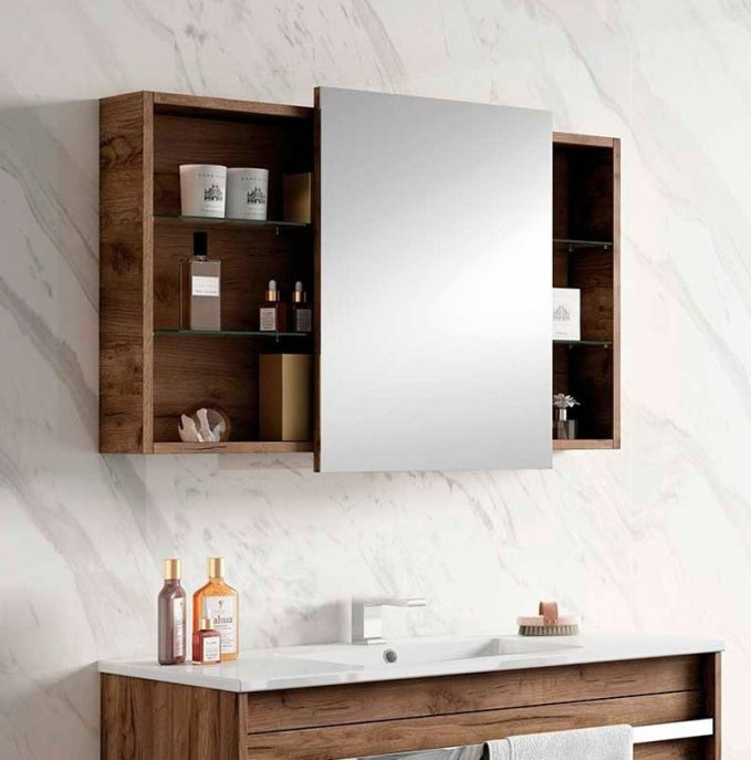 Espejo camerino de baño.