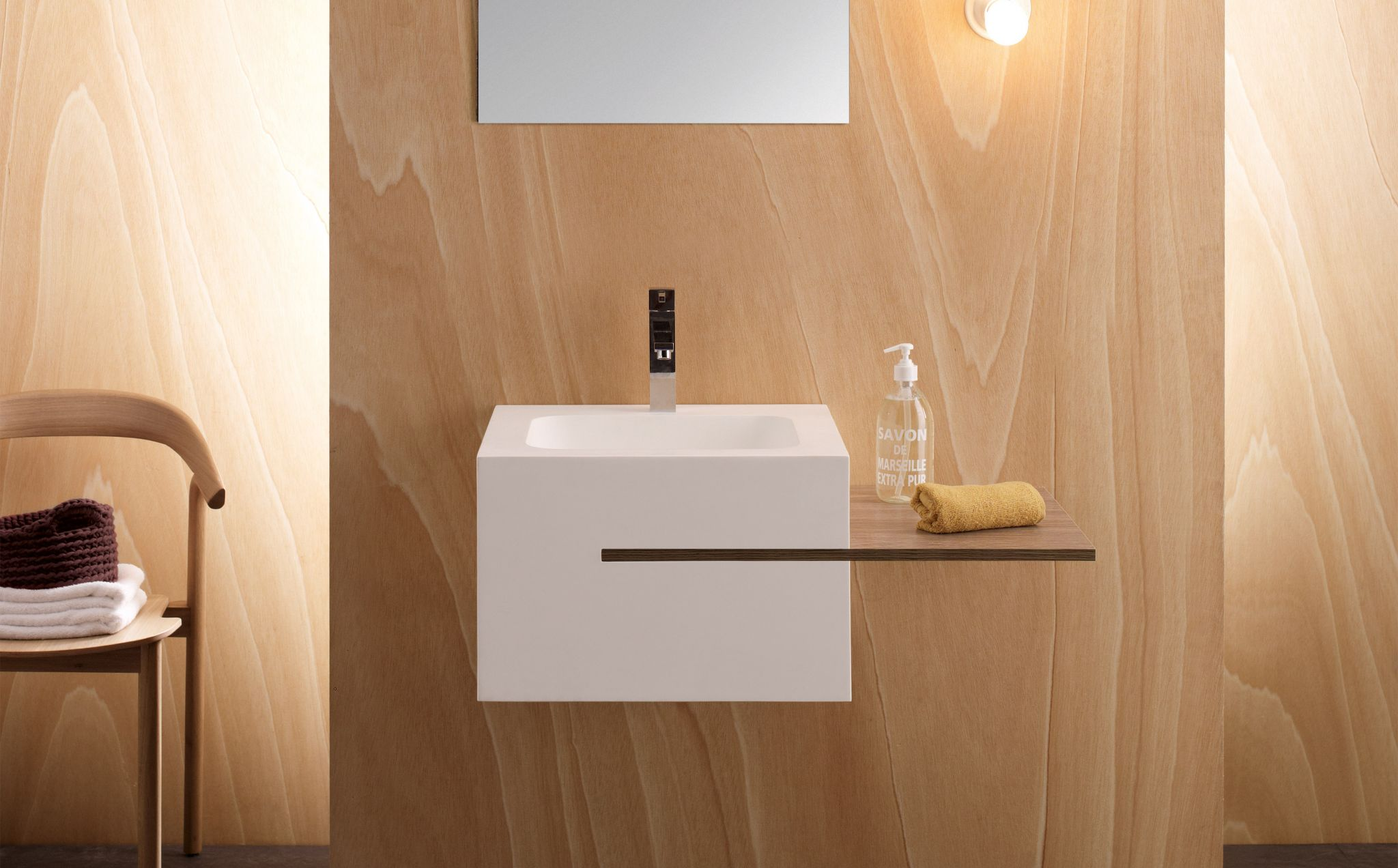Calabria  Lavabos Solid Surface Rectangular  Bathco