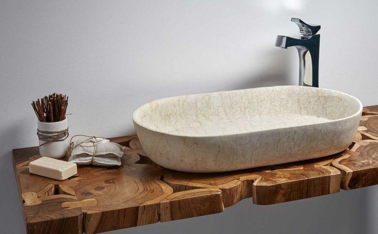 La delgadez de los nuevos lavabos de piedra  Noticias