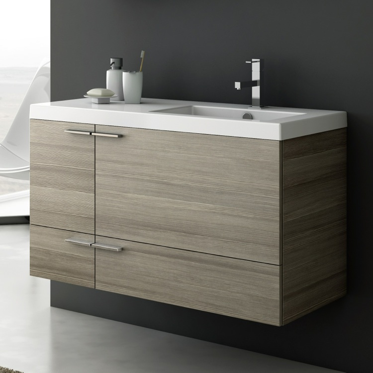 Acf Ans45 By Nameek S New Space 39 Inch Vanity Cabinet With Fitted Sink Thebathoutlet