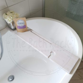 Bath Tray Beige Distressed