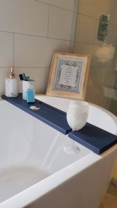 Navy Blue Dark Blue Bath Rack