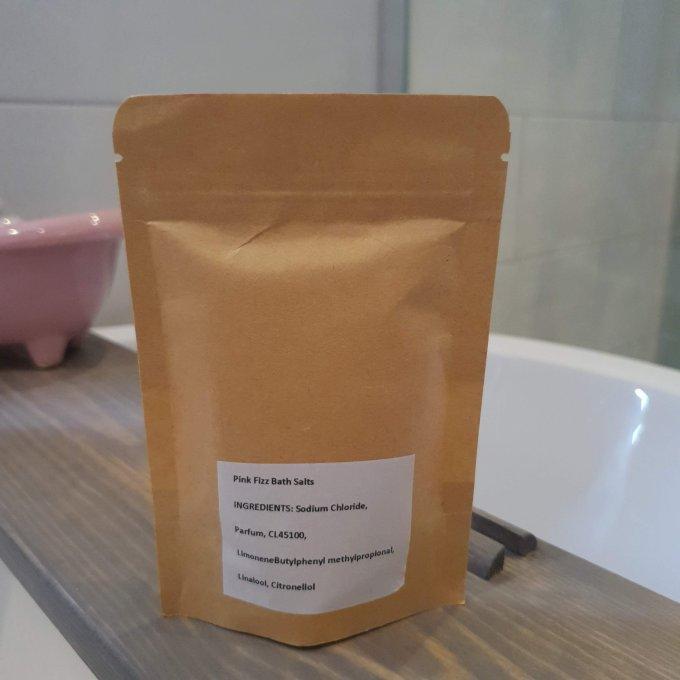 Pink Fizz Bath Salts ingredients