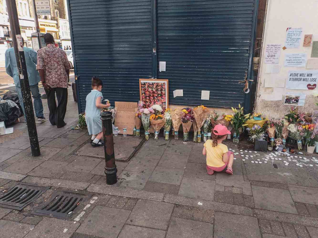 Finsbury Mosque Attack memorial. London, June 2017.