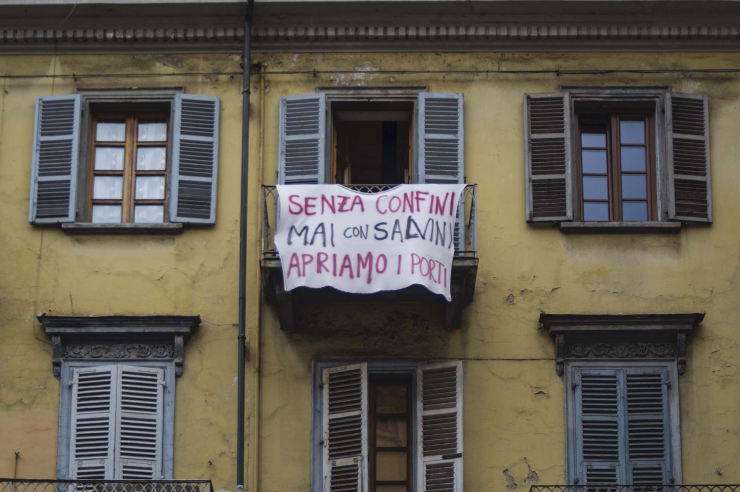 Salvini means border in Italian. Turin, August 2019.