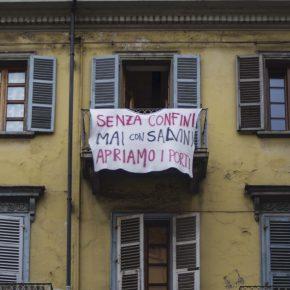 Salvini means border in Italian. Turin, August 2019.