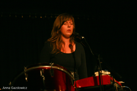 Kacey Johansing performing with Thao & Mirah at Bay Area Girls Rock Camp Art Auction 2011