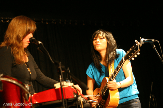 Kacey Johansing & Thao performing at Bay Area Girls Rock Camp Art Auction 2011