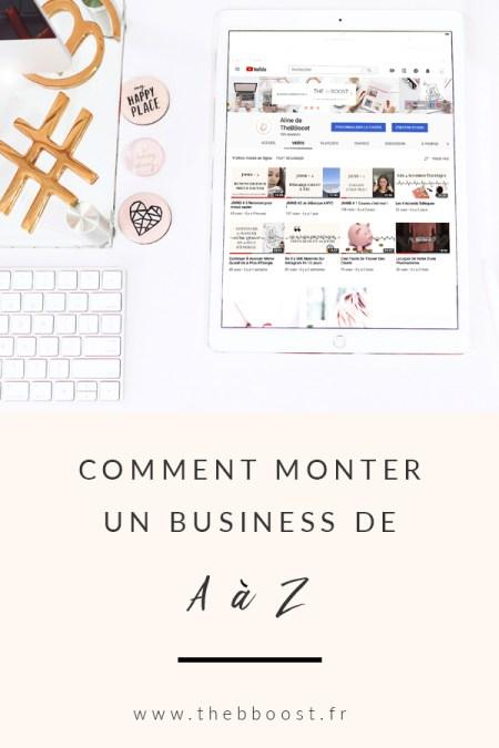 Comment monter un business de A à Z. Un article du blog TheBBoost. #business #webmarketing #autoentrepreneur #freelance #vidéo