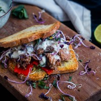 Pulled Lamb Sandwich - Greek style
