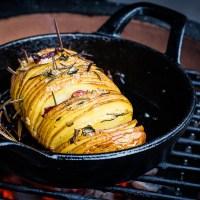 Rosemary Hasselback potato met Pancetta