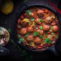 Smoky Indian Meatballs curry - kids favorite