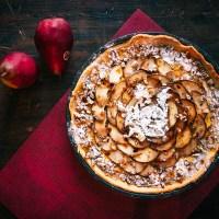 Royale perentaart met Koffie Karameldruppels - #dessertporn