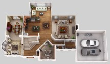 3D Home Design Floor Plan