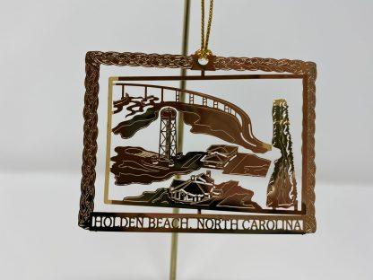 Holden Beach Bridge & Water Tower 3D Christmas Ornament