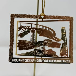 Holden Beach Bridge & Water Tower 3D Christmas Ornament