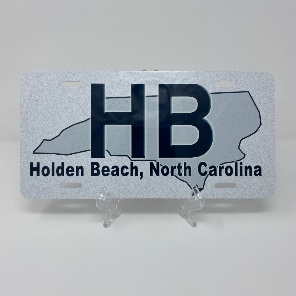 Holden Beach License Plate - HB State