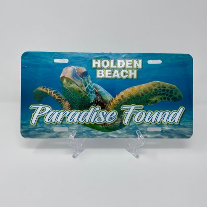 Holden Beach License Plate - Turtle Paradise Found