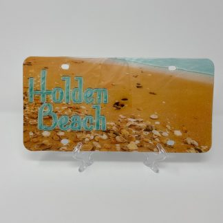 Holden Beach License Plate - Beach Shells