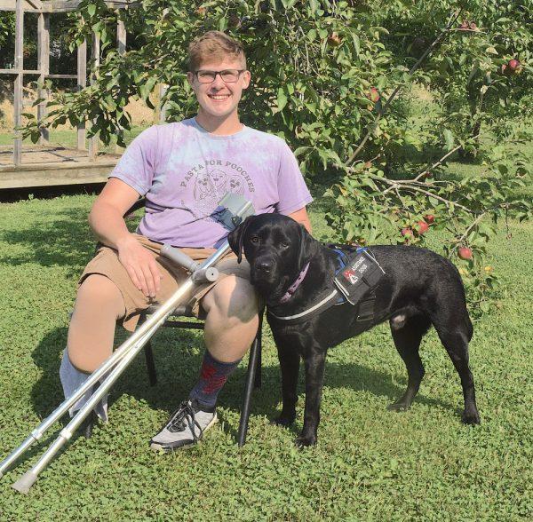 Zac Moyer and Service Dog Sparky