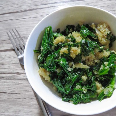 Warm Garlicky Kale & Quinoa Salad