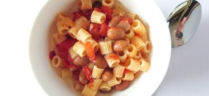 Pasta e Fagioli - This recipe is literally translated to pasta and beans and is also sometimes called Pasta Fazool. It's super easy to make, only taking less than 30 minutes and only 5 ingredients!