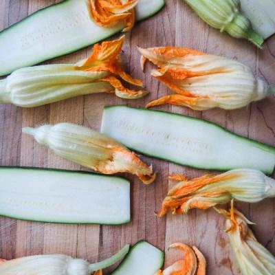 Fried Zucchini Flowers & Strips