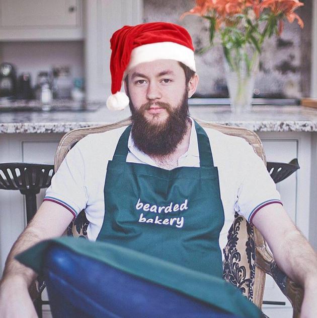 me in a fake santa hat
