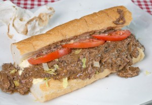 Classic roast beef po boy - messy, delicious goodness!