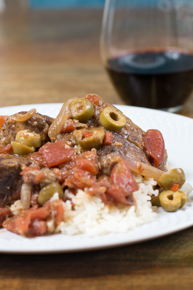 Pressure Cooker Spanish beef is a perfect, tender weeknight meal or impressive enough for company!