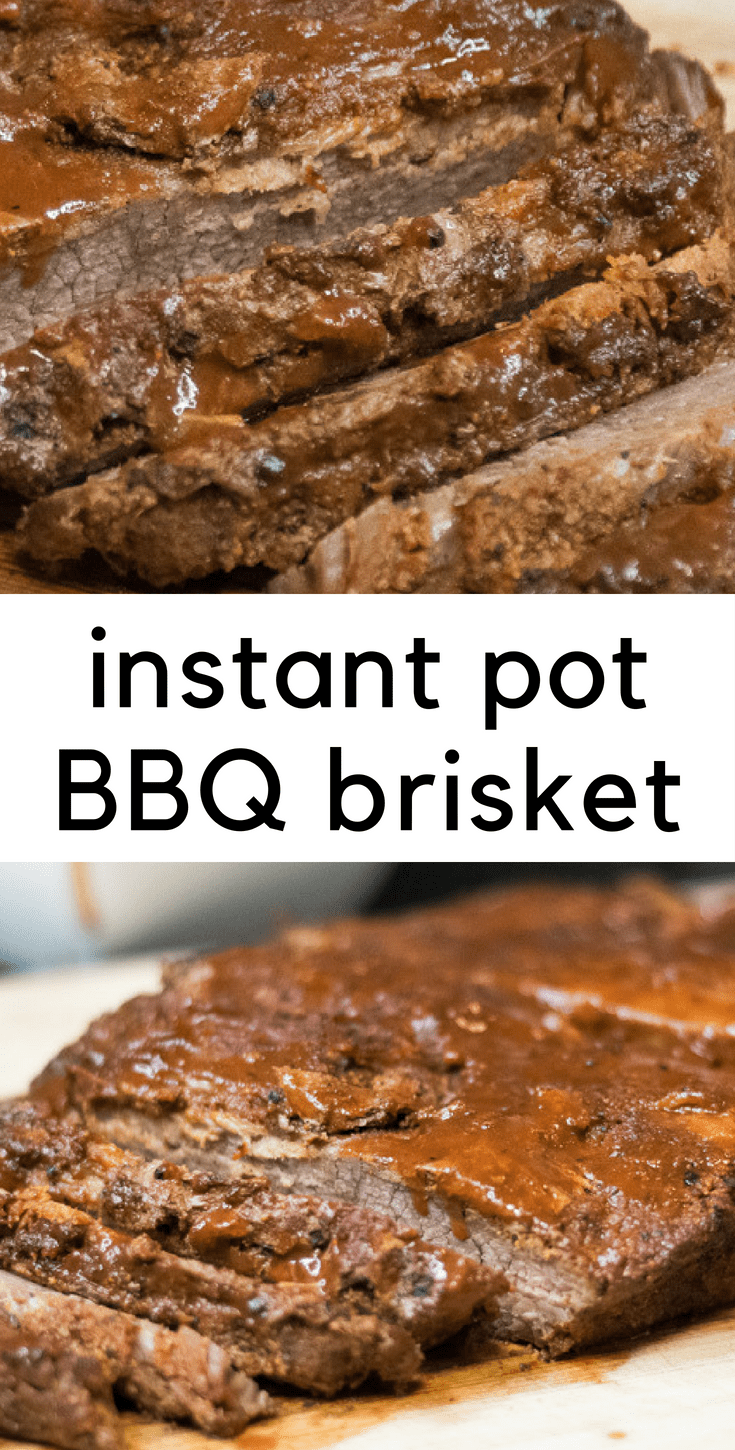 Instant Pot BBQ Brisket - No smoker? No problem.  This tender, juicy, flavorful Instant Pot BBQ brisket will not disappoint!