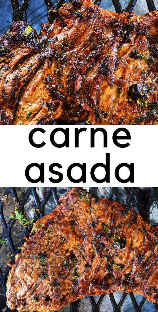 Delicious, easy carne asada! You probably have everything in your pantry to throw this quick marinade together. Just a couple of fresh ingredients and you're golden! Perfect for tacos, burritos, fries, nachos...whatever!