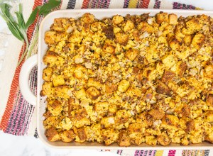 Corny cornbread dressing! The secret ingredient? CORN NUTS!!!