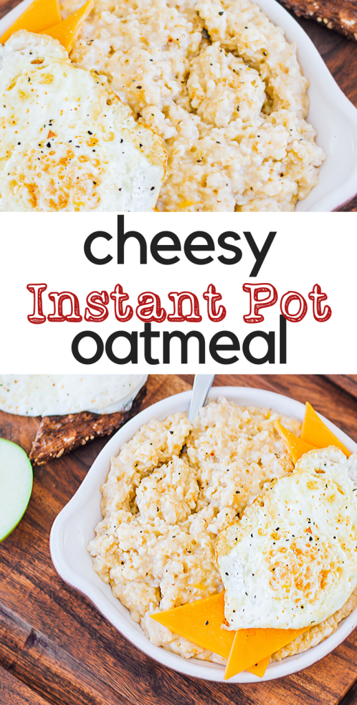 Looking to switch up your oatmeal game? Cheesy Oatmeal in the Instant Pot will make you a believer in breakfast again! 14 minutes to start your day right!