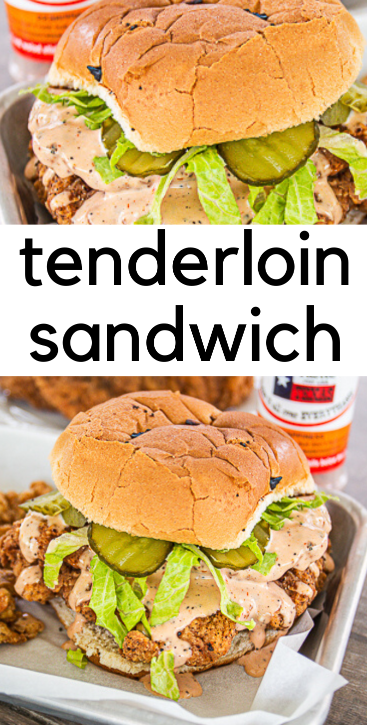 Fried Pork Tenderloin Sandwich