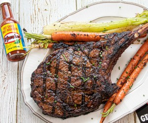 Buffalo Style Ribeye - A simple, home made buffalo style sauce is just what your ribeye needs. Oh, and don't forget the compound butter!