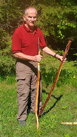 Jim with two Classic Bear Sticks