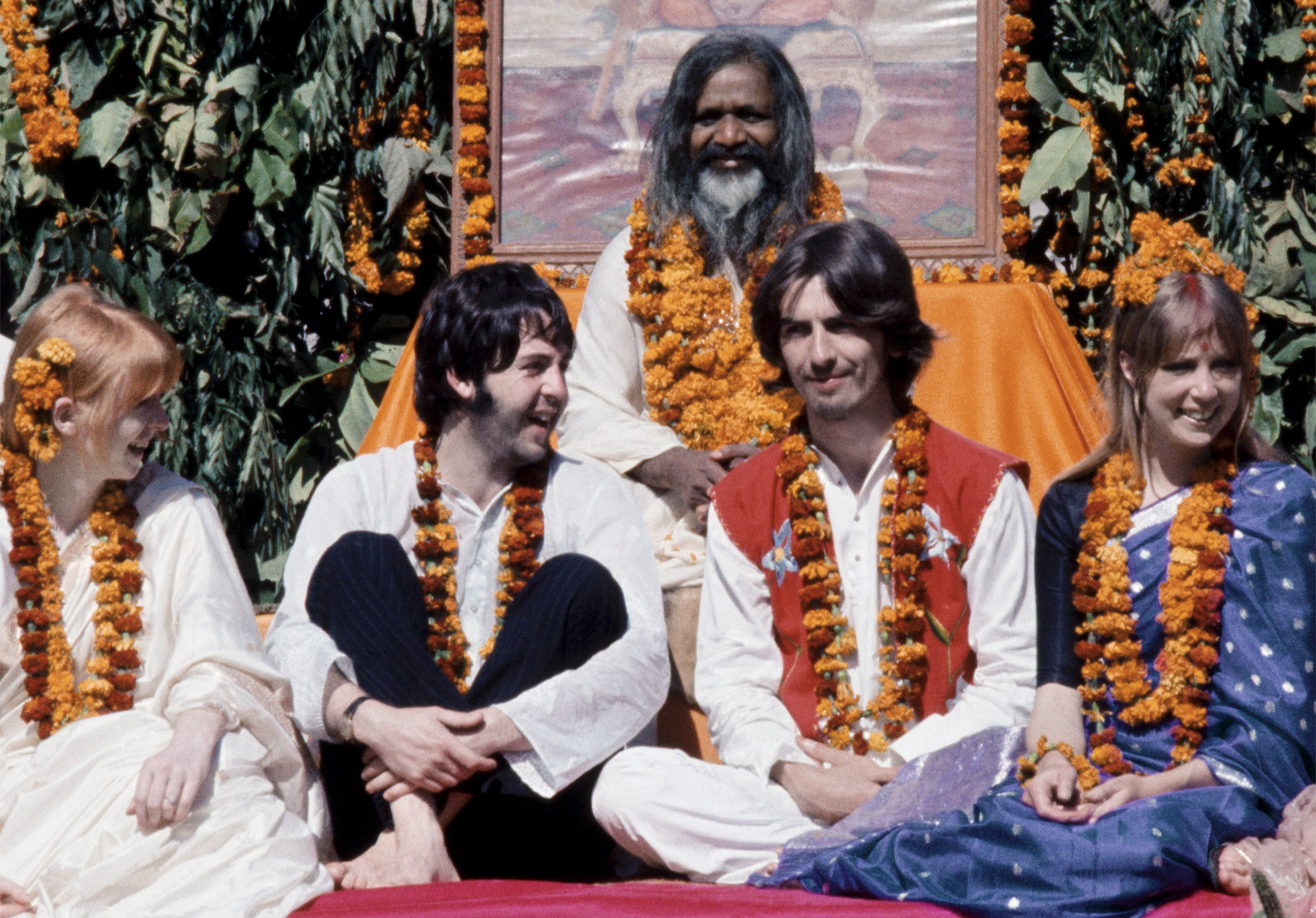 Image result for beatles in india