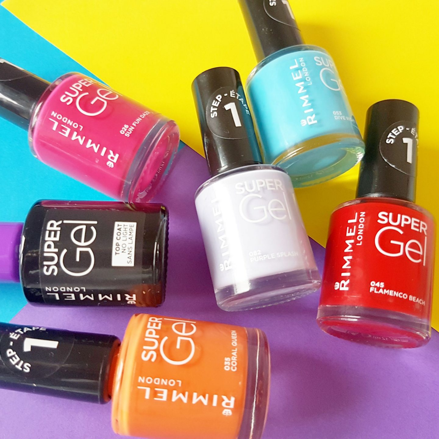 Rimmel London Super Gel Nail Polish Two Step System For Salon Style