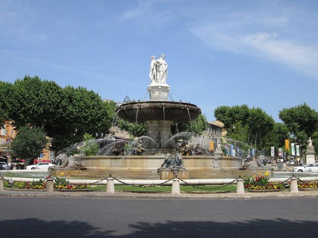 Aix-en-Provence, France fountain