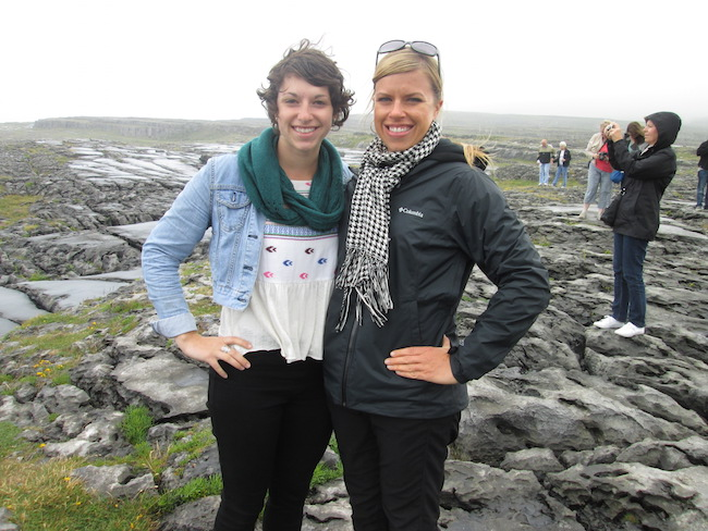 With my sister at The Burren