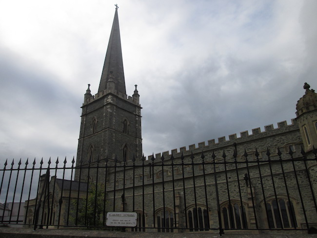 St. Columb's can be reached by walking along the city wall