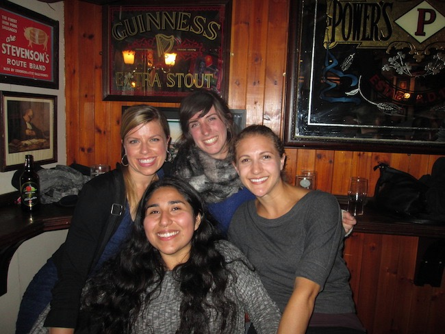 A fun night out with some of the ladies I met in Derry