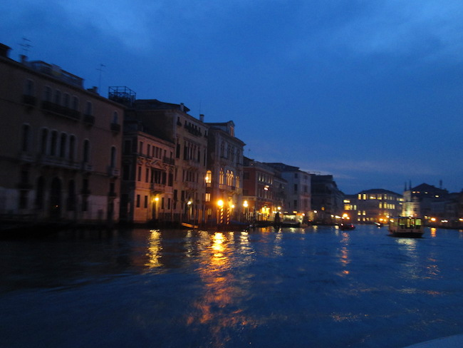 Night ride on the Grand Canal