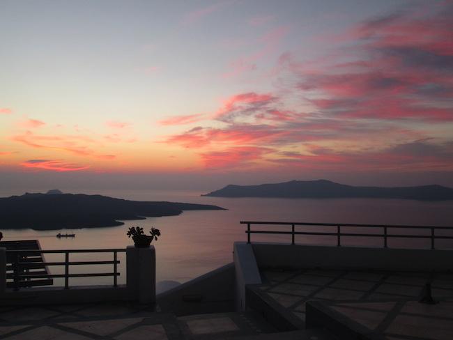 My first Santorini sunset